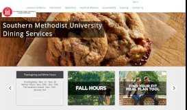 Southern Methodist University Dining Services - Southern Methodist ...