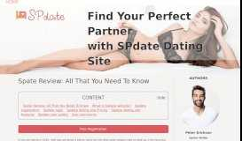 Spdate Website: The Best Adult Dating Site