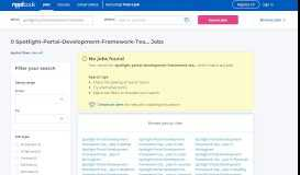 Spotlight Portal Development - Framework Team Developer, 3-6 ...
