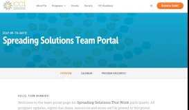 Spreading Solutions That Work Team Portal - Center for Care ...