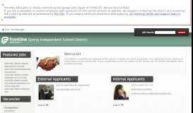 Spring Independent School District - Frontline Recruitment