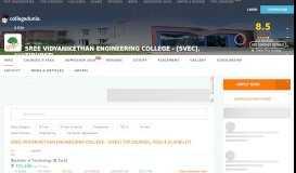 Sree Vidyanikethan Engineering College - [SVEC], Tirupati Courses ...