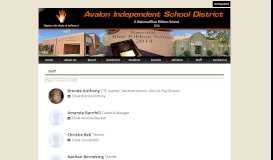 Staff Directory | Avalon Independent School District