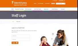 Staff Login - Identitywa - Registered NDIS Provider