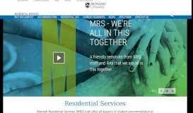 starrez portal - Residential Services - Monash University