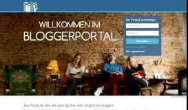 Startseite Bloggerportal - Verlagsgruppe Random House