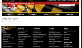 State of Maryland Records Search - Maryland Courts