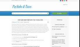 Stop and Shop Employee Pay Stub & W2s | Paystubs & Taxes