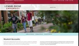 Student Accounts - Lenoir-Rhyne University