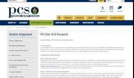 Student Assignment / PCS User ID & Password - Pinellas County ...