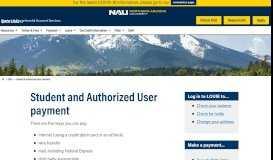 Student & Authorized User Payment - Northern Arizona University