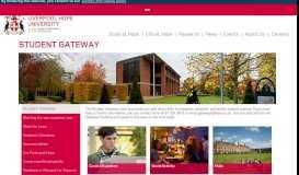 Student Gateway - Liverpool Hope University