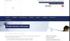 Student Member Information - Institution of Engineers Singapore