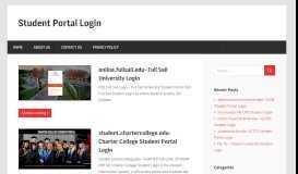 Student Portal Login   - Part 3