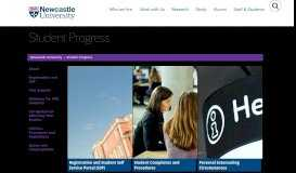 Student Resources - Student Progress - Newcastle University