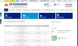 Students Support - Sri Ramachandra Medical College