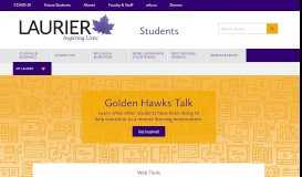 Students - Wilfrid Laurier University: Home