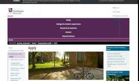 Study : Apply - Durham University