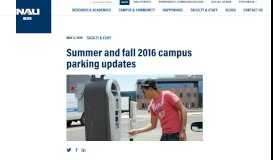 Summer and fall 2016 campus parking updates - NAU News