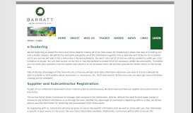 Supplier Login - Barratt Commercial Support