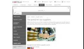 Supplier portal – Häfele