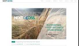 Supporting Food Security from Space – NextGEOSS