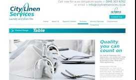 Table Linen Range - City Linen Services