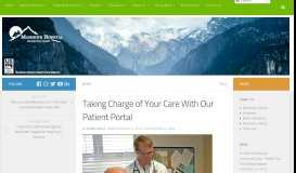 Taking Charge of Your Care With Our Patient Portal - Mammoth Hospital