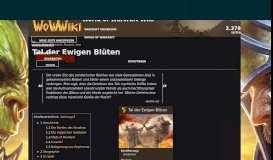Tal der Ewigen Blüten | WoWWiki | FANDOM powered by Wikia