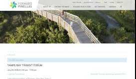 Tampa Bay Transportation Management Area (TMA ... - Forward Pinellas