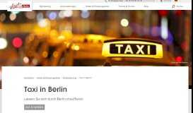 Taxi in Berlin   visitBerlin.de