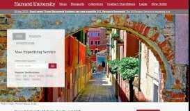 TDS portal for Harvard travelers