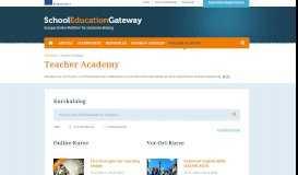 Teacher Academy - School Education Gateway