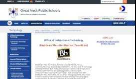 Technology / Blackboard Mass Notification (ParentLink)