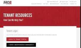 Tenant Resources   Mo2 Properties