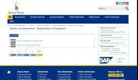 Tender and Addendum - Registration of Suppliers   kplc.co.ke