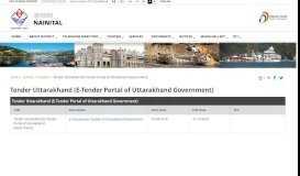 Tender Uttarakhand (E-Tender Portal of Uttarakhand Government ...