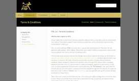 Terms & Conditions - FTD Companies