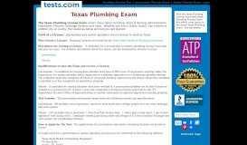 Texas Plumbing Exam - Tests.com