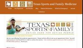 Texas Sports and Family Medicine