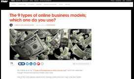 The 9 types of Online Business Models; which one do you use? - TNW
