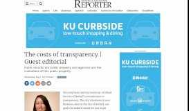 The costs of transparency   Guest editorial   Bothell-Kenmore Reporter