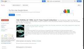 THE PORTAL OF TIME: Sci-Fi Time Travel Collection: The Time Machine, ...