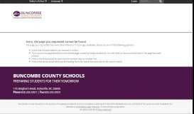 The PowerSchool Parent Portal - Buncombe County Schools
