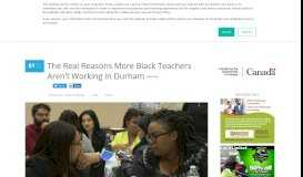 The Real Reasons More Black Teachers Aren't Working In Durham