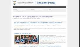 THE ST CATHERINE'S COLLEGE RESIDENT PORTAL