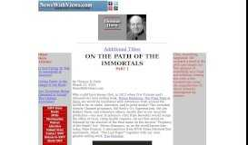 Thomas R. Horn -- On the Path of the Immortals, Part 1
