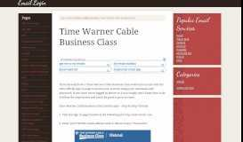 Time Warner Cable Business Class Email Login – TWCBC ...