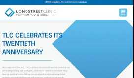 TLC celebrates its twentieth anniversary - Longstreet Clinic