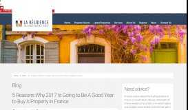 Top 10 Gîte Properties for Sale in France - La Résidence